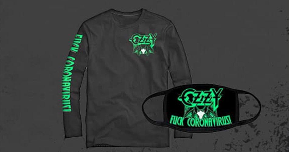 """Ozzy Osbourne apresenta camiseta e máscara """"Fuck Coronavirus"""""""