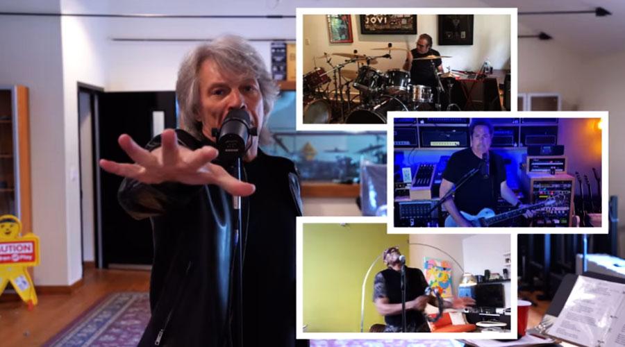 "Bon Jovi se reúne virtualmente para apresentar novo single no ""The Voice"""