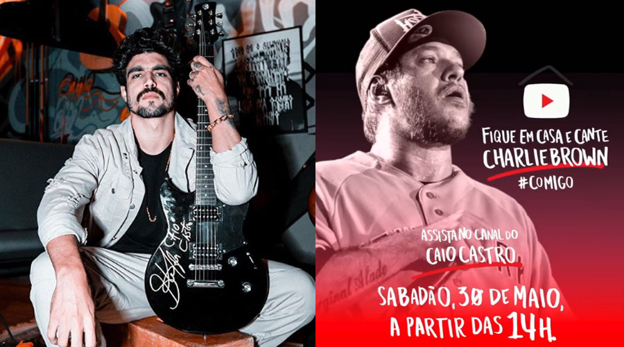 Caio Castro comanda live do Charlie Brown Jr. neste sábado