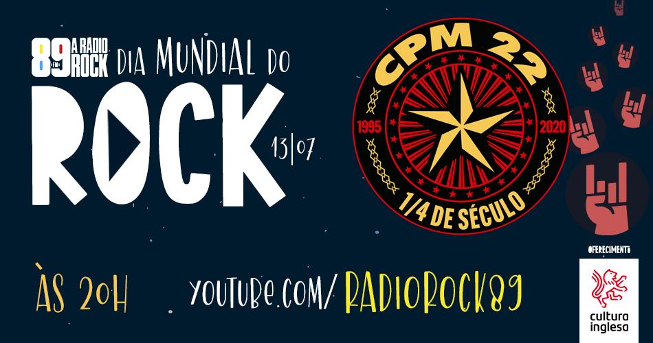 CPM 22 faz live do Dia Mundial do Rock no YouTube da 89
