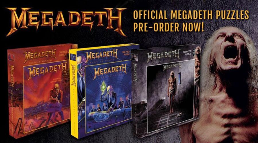 Três álbuns clássicos do Megadeth ganham versão em quebra-cabeças