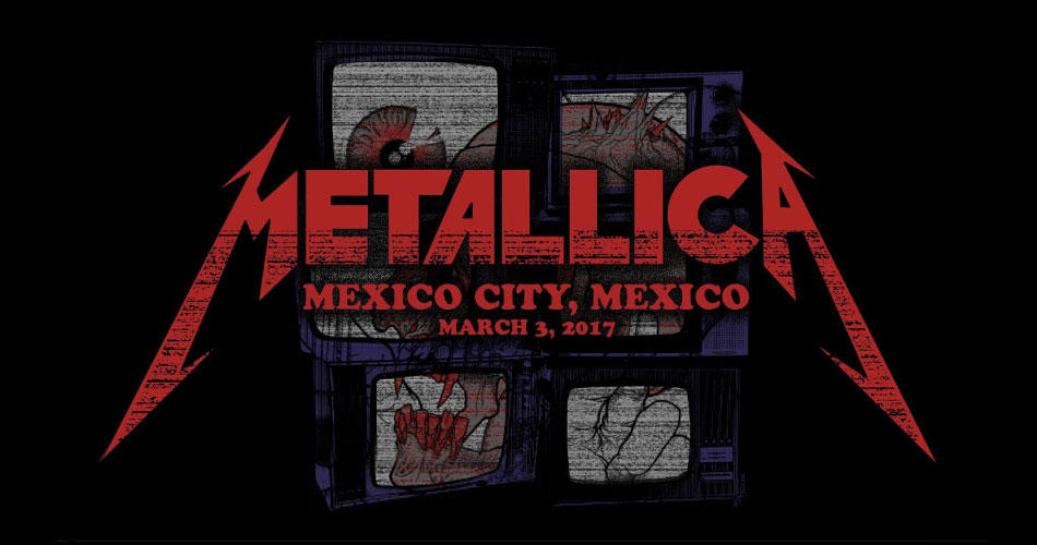 "Metallica libera show da ""Worldwired Tour"" gravado na cidade do México"