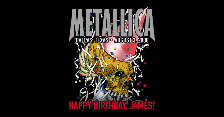 Metallica transmite show do ano 2000 com festa de aniversário de James Hetfield