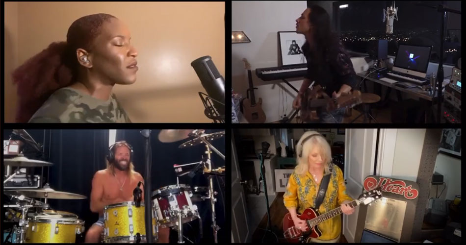 "Nuno Bettencourt recruta Taylor Hawkins e Nancy Wilson em cover de ""Barracuda"", do Heart"