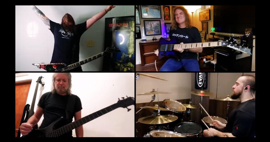 """Vídeo: David Ellefson, do Megadeth, toca com o Sepultura o clássico """"Territory"""""""