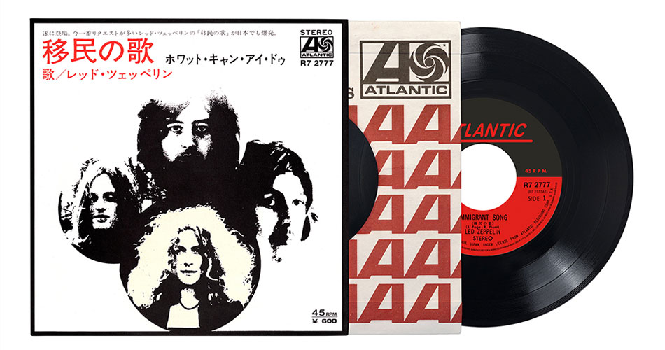 "Led Zeppelin relança versão japonesa do single de 7"" de ""Imigrant Song"""