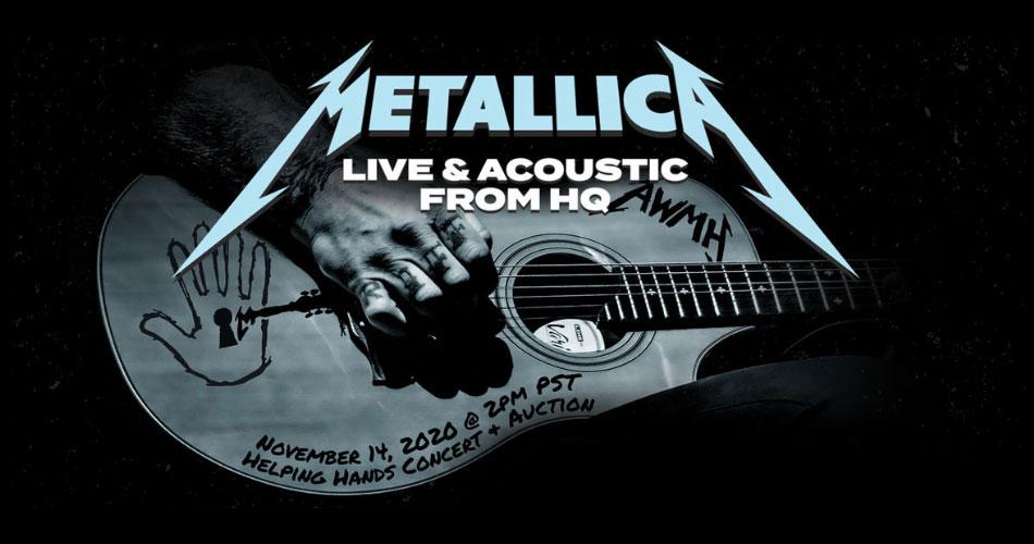 Metallica anuncia show acústico em formato pay-per-view