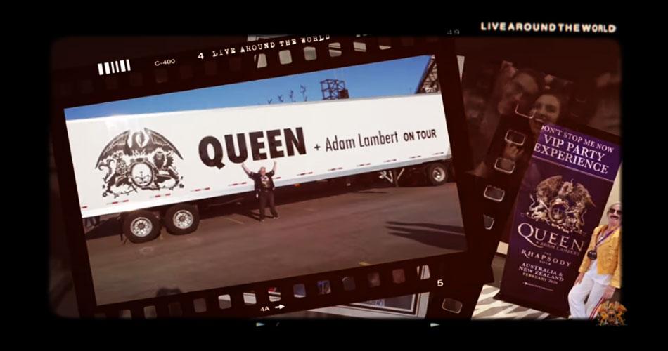 """Queen + Adam Lambert liberam vídeo de """"Don't Stop Me Now"""" editado com ajuda de fãs"""