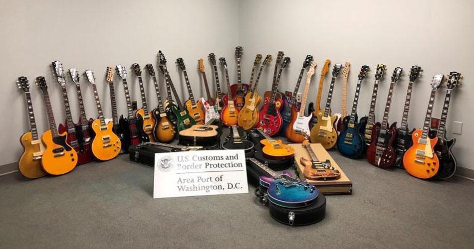 Coleção de guitarras falsificadas é apreendida em aeroporto dos EUA