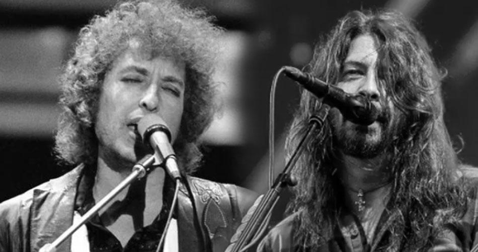 """Bob Dylan é fã do Foo Fighters e já pensou em regravar """"Everlong"""""""