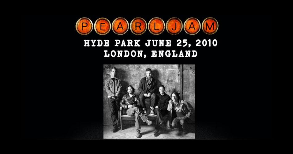 Pearl Jam: hoje tem transmissão gratuita na internet de showzaço de 2010