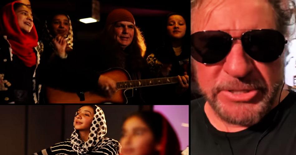 """Sammy Hagar e Chad Kroeger gravam com jovens afegãs nova versão de """"Fly Like An Eagle"""""""