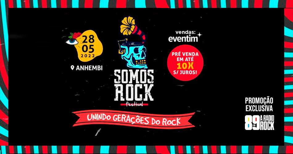 Somos Rock Festival 2022 está com pré-venda aberta de ingressos