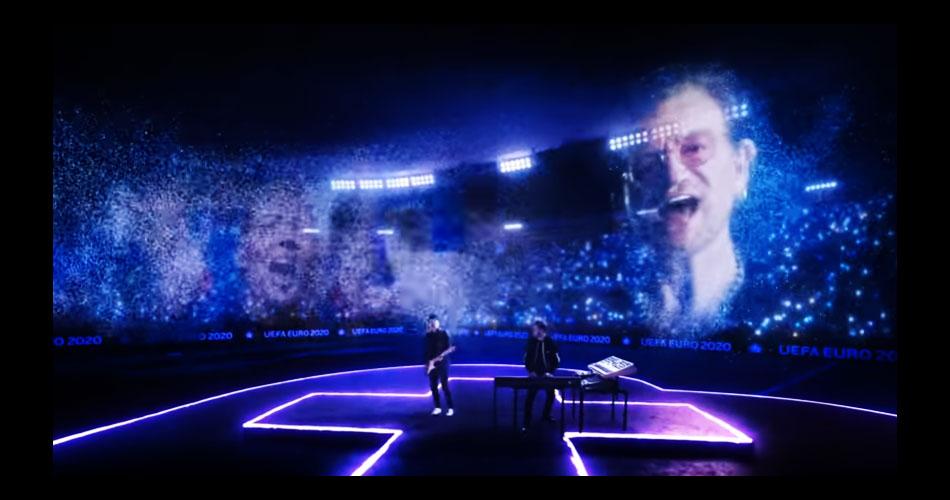 Bono e The Edge, do U2, abrem Eurocopa com performance ao lado de Martin Garrix