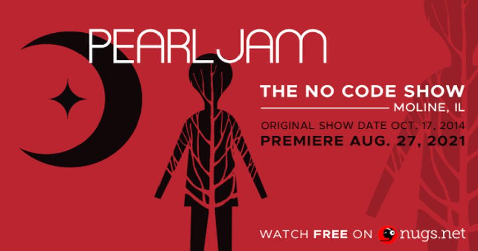 """Pearl Jam comemora aniversários dos álbuns """"Ten"""" e """"No Code"""" com transmissão virtual"""