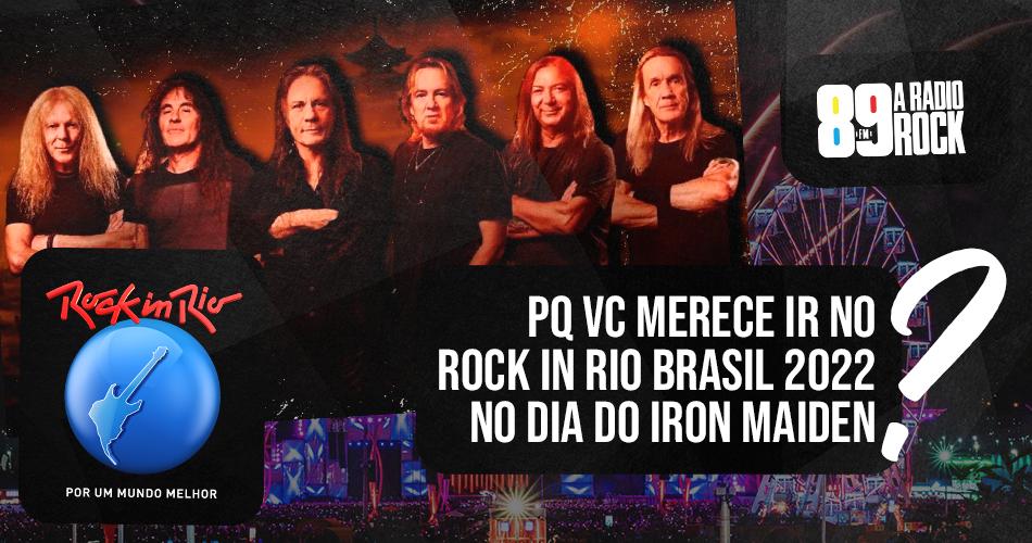 """Concurso """"Iron Maiden no Rock in Rio é com a 89"""""""