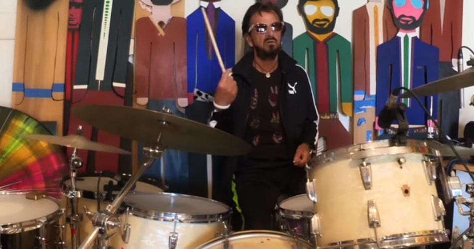 """Ringo Starr se junta a mais de 100 músicos em nova versão de """"Come Together"""", dos Beatles"""